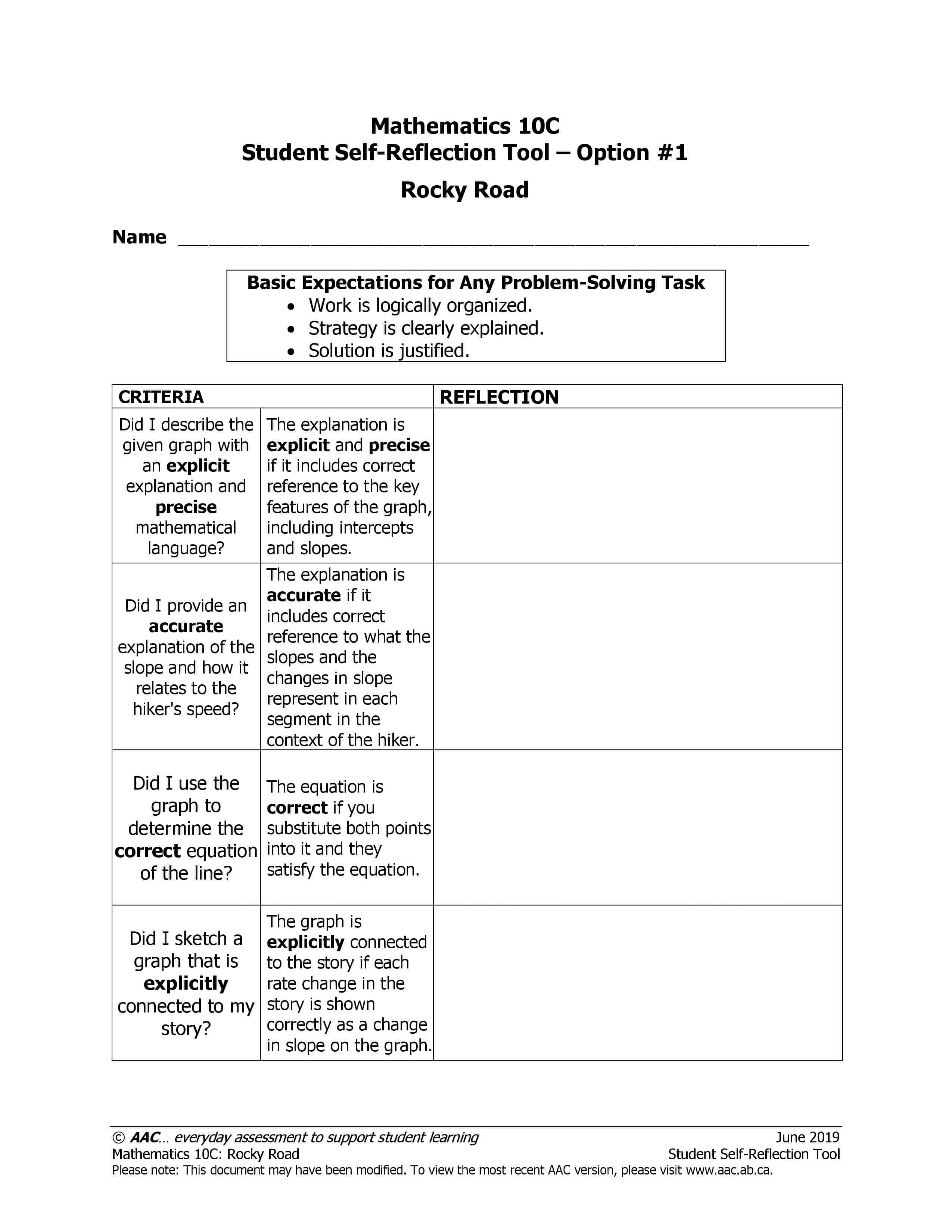Rocky Road (10C) - Alberta Assessment Consortium