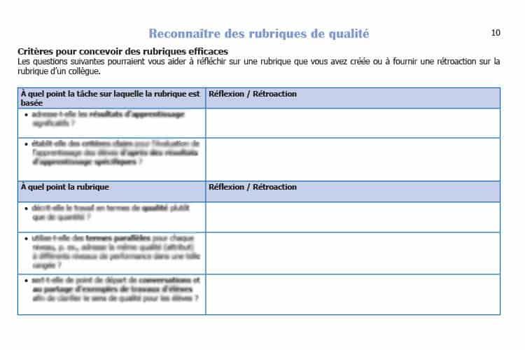 Rubric Materials - Alberta Assessment Consortium